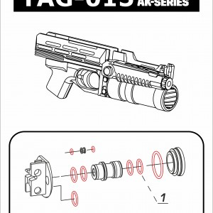 "Repair kit for ""TAG-015"" launcher"